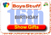 Boys Stuff 16th Birthday Presents Ideas
