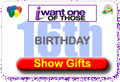 16th Birthday Gifts and Present Ideas