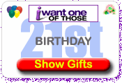 21st Birthday Gifts and Present Ideas